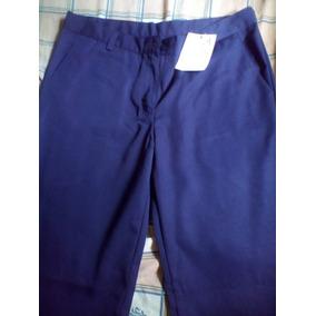 cfe972aea2f09 Pantalones Azul Marino Uniforme Escolar O Trabajo  damas 32