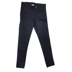 3310b5d71d145 Pantalon Niña Stretch Ajustable Uniforme Escolar Azul Marino