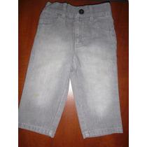 Pantalon Bebe Gris Talla 12 Meses Tipo Jean Americano