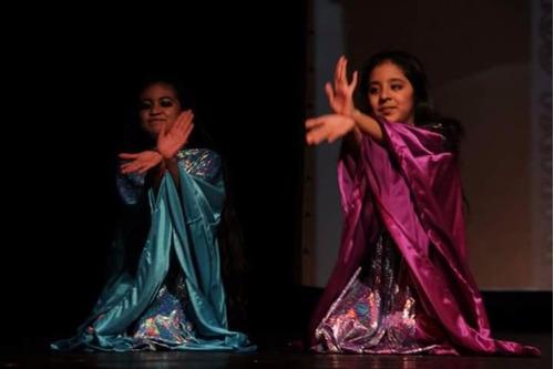pantalones rosa fluo para niñas danza arabe belly dance