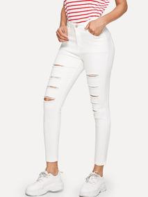 gran inventario Promoción de ventas diseño unico Pantalon Blanco Roto Mujer en Mercado Libre México