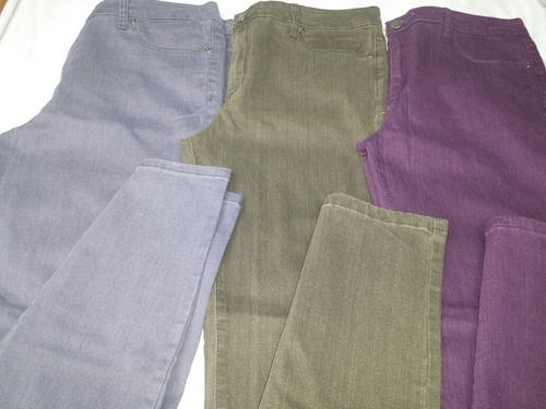 pantalones strech altos talla plus