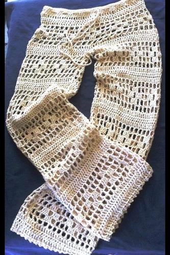 pantalones tejidos playeros