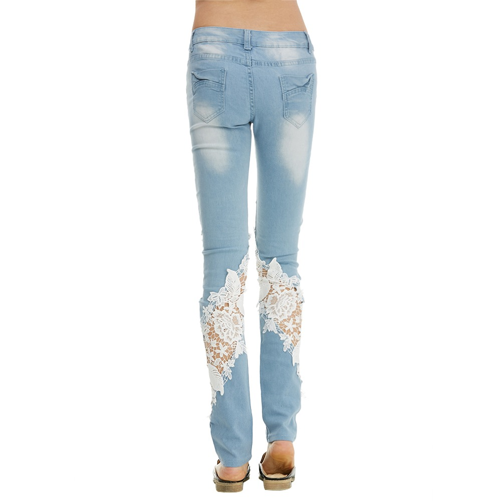 a61cee2475 pantalones vaqueros de color luz flores pantalones vaqueros. Cargando zoom.