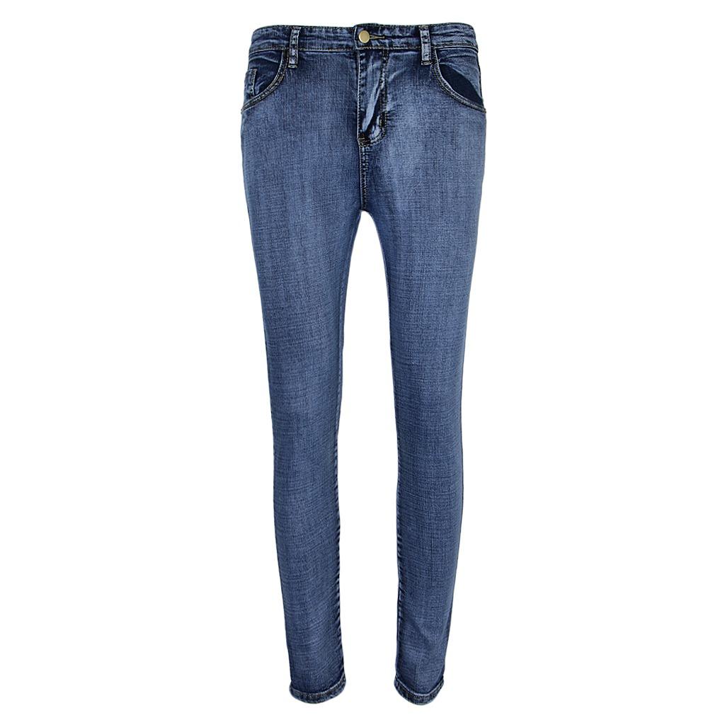 61498a930 pantalones vaqueros de mezclilla cintura elástica elástic. Cargando zoom.