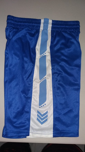 pantaloneta basketball range color azul-blanco