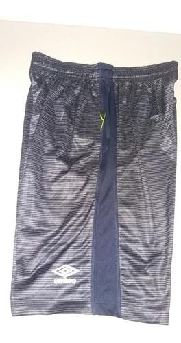 pantaloneta basketball umbro color azul-gris