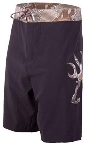 pantaloneta / bermuda camuflada reedy boardsh marca browning