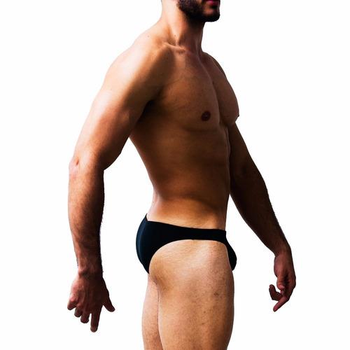 pantaloneta de baño hombre bikini tanga negro ozs50001