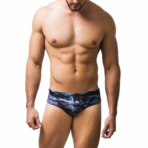 pantaloneta de baño hombre boyfit 30003 camuflada gris
