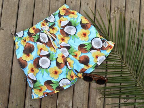 pantaloneta de baño taonga beachwear - cocos- playa