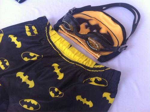 pantaloneta lycra infantil, natación, piscina + gafas +gorro