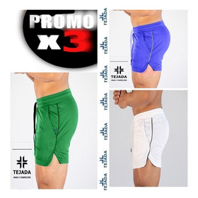 Pantaloneta, Short Gym, Abertura, Dry Fit Promo X 3 Und