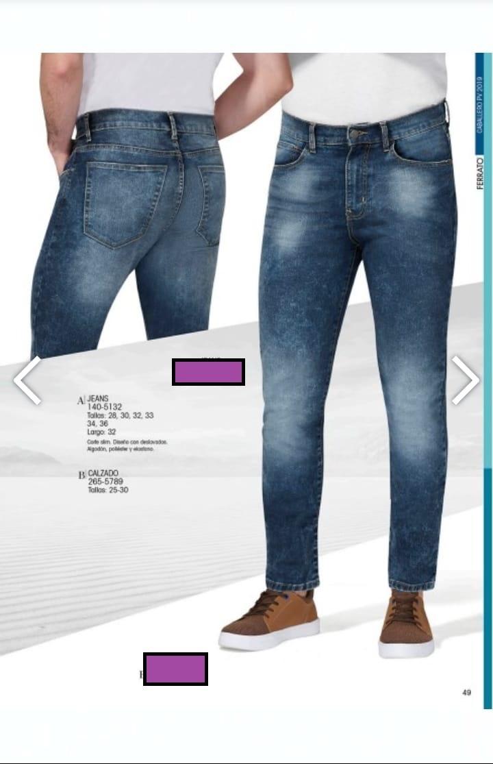 Pantalon jeans P caballero Ferrato andrea 140-5132 Slim -   760.00 en Mercado  Libre c0975cf0a157