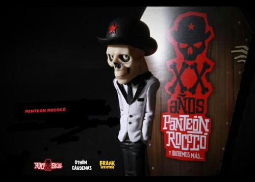 panteon rococo roco skull figura edición limitada art toys