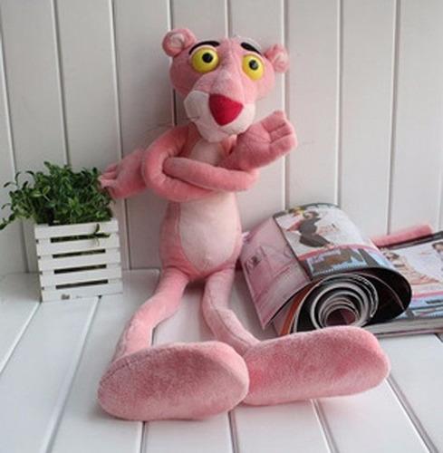 pantera cor de rosa grande  55cm pelúcia pronta entrega