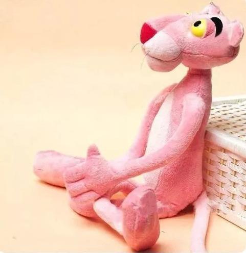 pantera cor de rosa pelúcia 36 cm