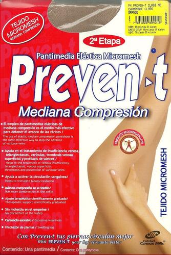 pantimedia elastica preven-t mediana compresion  2 pack