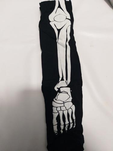 pantimedia media hueso esqueleto hallowen dark disfraz envio