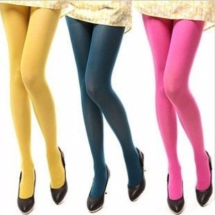 pantimedias de colores gruesas opaca moda japonesa media