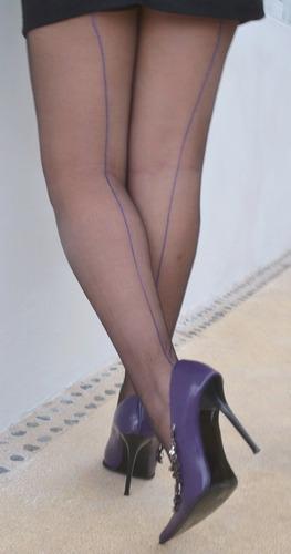 pantimedias  linea atras mod bicolor  sensual dimention