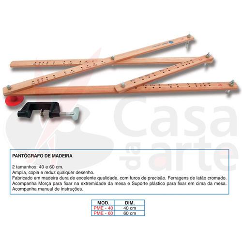 pantógrafo de madeira trident c/ medida de 60 cm