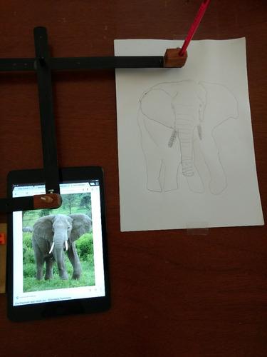 pantografo para dibujo en acero.
