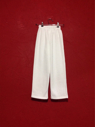 pants blanco niño/a talla 8 casual escolar unisex remate c14