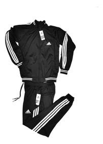 Pants Completo adidas Negro Con Blanco, Sportock Muy Cómodo