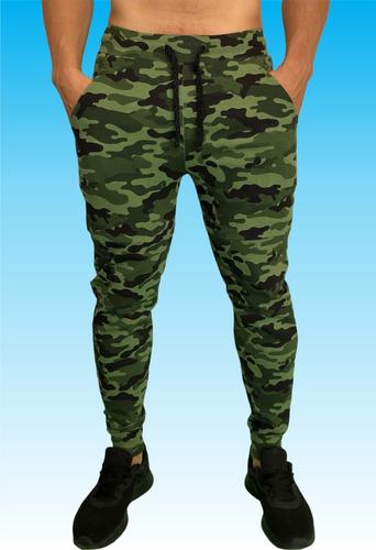 pants jogger deportivo camuflaje militar y lineas tipo gucci