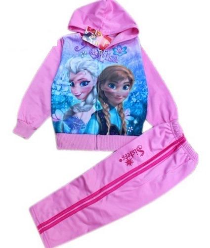 pants para niña frozen invierno rosa y azul elsa y anna