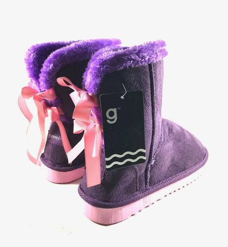 pantubotas niñas peluche ribbon 28 al 34 botas envío gratis