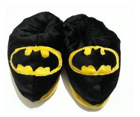 e9914436cbe7b0 Pantufa Batman Lançamento Super Heroi Chinelo Pelucia