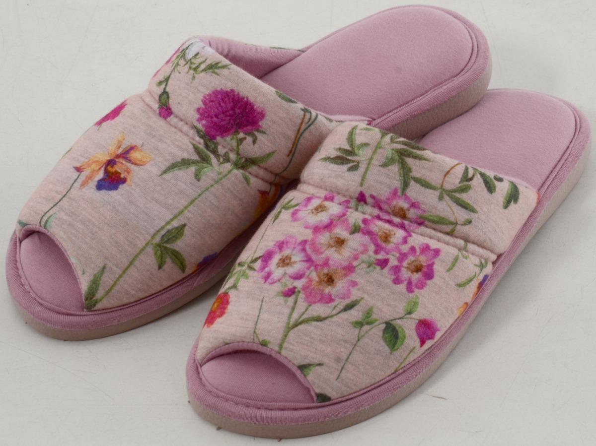 055142b256fe6e Pantufa Feminina Em Malha Estampada Floral - Puff