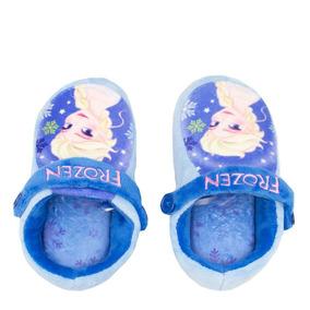 aa5874516f55b7 Pantufa Infantil Chinelo Kick Ricsen Frozen Azul   Betisa