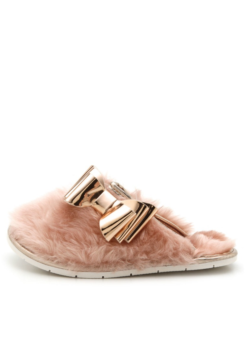 2c9407d525aa15 Pantufa Molekinha Fun Fashion Rosa Pelugem