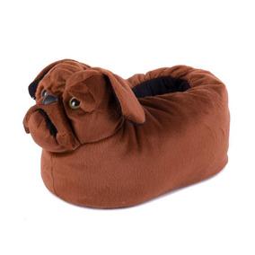 4836e6a00b9fb8 Pantufa Pé Quentinho Bulldog
