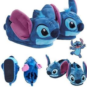 52a5a41e7a6347 Pantufa Stitch 3d Sola Borracha Lançamento Ricsen Original
