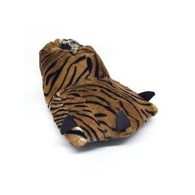 cb85e7ad4e9124 Pantufa Pata De Tigre Branco - Pantufas no Mercado Livre Brasil