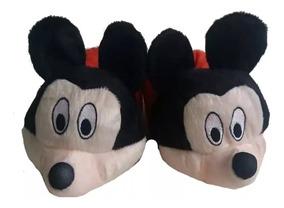 ee197f99725f76 Pantufas Adulto E Infantil Mickey Minie Pluto Cachorro 20/43