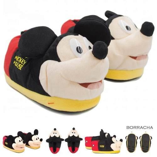 8b9ec8c2d484c8 Pantufas Masculinas Adultas Mickey Mouse 3d Ricsen Feminina