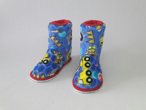 pantufla babucha bota termica para niño niña leggo city