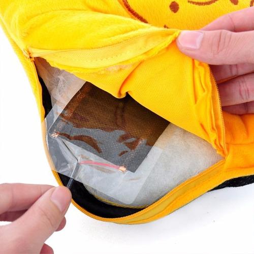 pantufla con conector usb para calentar los pies