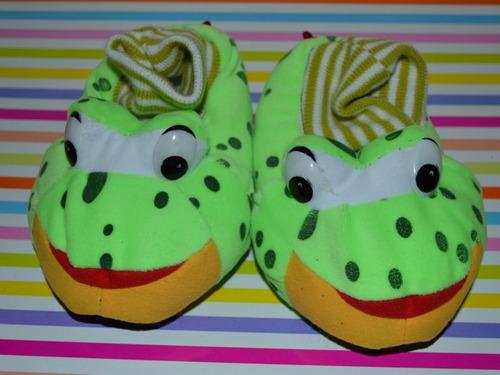 pantuflas abrigadas puño sapo talles 22 y 24 little treasure