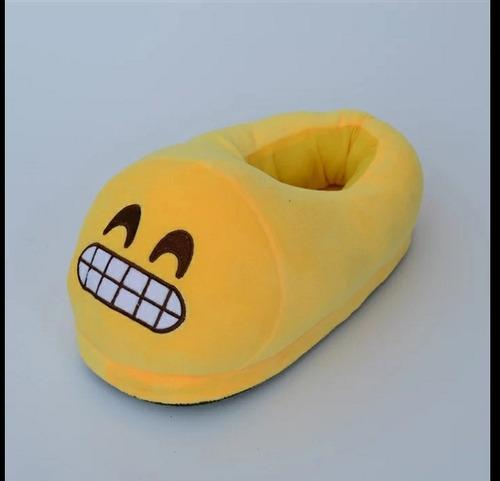 pantuflas babuchas emojis emoticones talla única