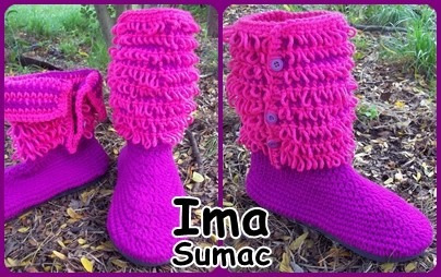 pantuflas botas de lana en crochet. artesanales. t 35/39