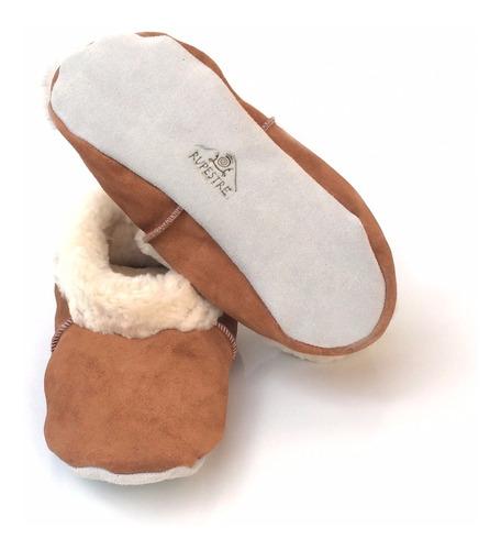 pantuflas de cuero reno - tallas niño/a