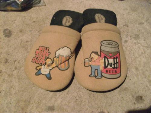 pantuflas de los simpson