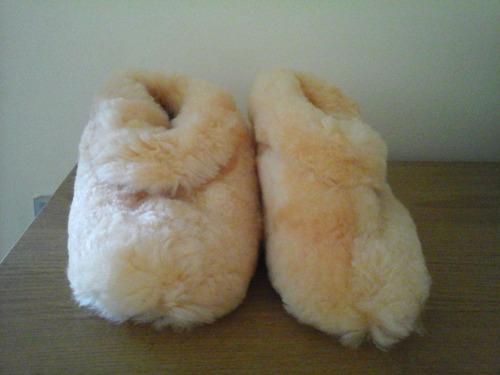 pantuflas de piel