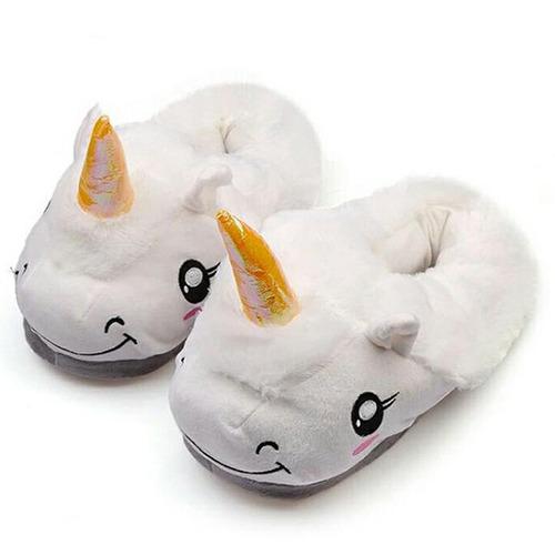 pantuflas de unicornio color blanco kawaii envio gratis